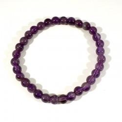 Bracelet en améthyste perles rondes 6mm