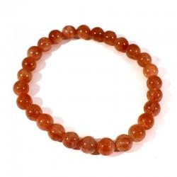 bracelet en pierre de soleil perles rondes 6mm