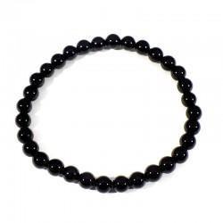 bracelet en onyx noir perles rondes 6mm