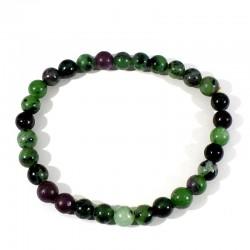 bracelet en rubis zoïsite perles rondes 6mm