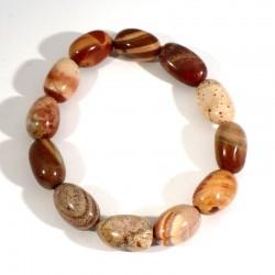 bracelet en jaspe bréchique graines