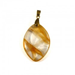 Pendentifs en quartz hématoïde jaune