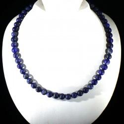Collier en lapis-lazuli perles rondes 8mm