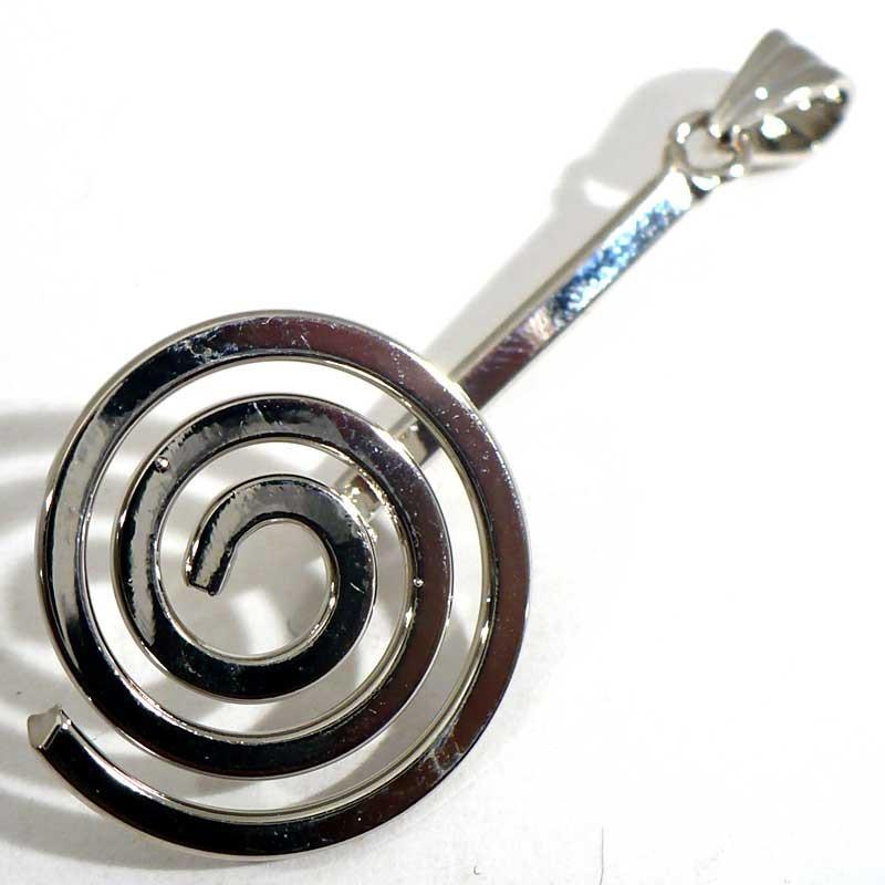 Support spirale porte donuts metal argenté 4cm