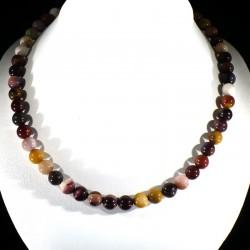 collier ras de cou en mookaïte perles rondes 8mm