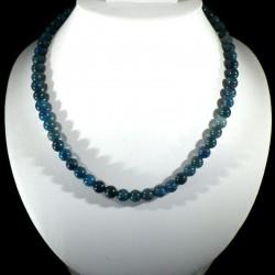 Collier en Apatite bleue perles rondes 8mm