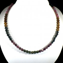 Collier en Tourmaline multicolore perles rondes 8mm