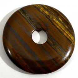Pendentif donuts en oeil de tigre 4cm