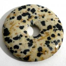 Pendentif donuts en jaspe dalmatien 3cm