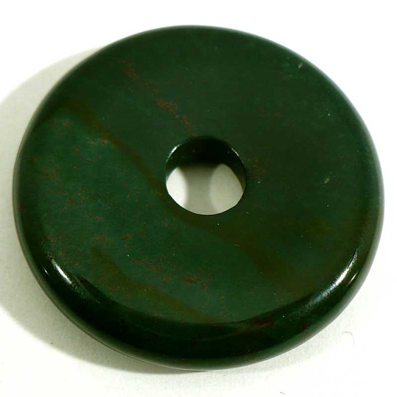 Pendentif donuts en jaspe héliotrope 3cm