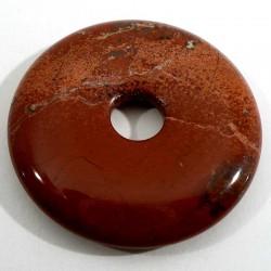 Pendentif donuts en jaspe rouge 3cm
