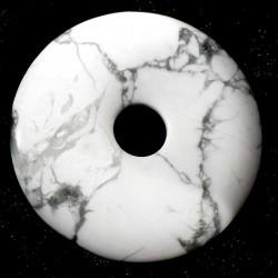 Pendentif donuts en howlite - magnésite 5cm