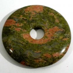 Pendentif donuts en unakite 5cm