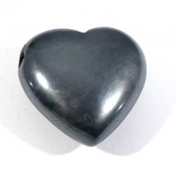 Pendentif coeur en hématite