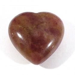 Pendentif coeur en quartz fraise