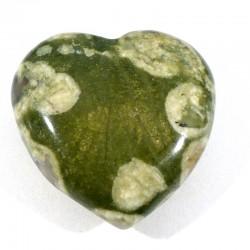Pendentif coeur en rhyolite