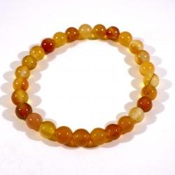 Bracelet enfant en cornaline perles rondes 6mm