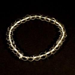 Bracelet enfant en cristal de roche perles rondes 6mm