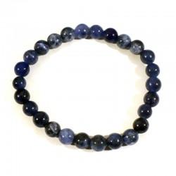 Bracelet enfant en sodalite perles rondes 6mm