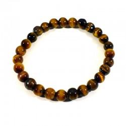 Bracelet enfant en oeil de tigre perles rondes 6mm