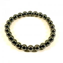 Bracelet enfant en hématite perles rondes 6mm