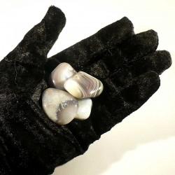 Agate naturelle du Botswana - pierres roulées