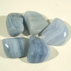 Agate calcédoine blue lace d'Afrique du sud - pierres roulées
