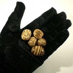 Aragonite zonée du Pérou - pierres roulées