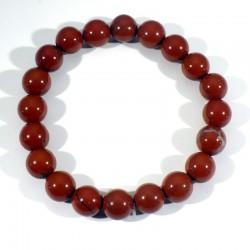 Bracelet en Jaspe rouge perles rondes 10mm