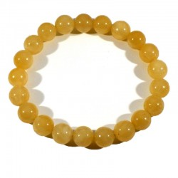 Bracelet en Calcite orange perles rondes 10mm