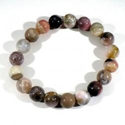 Bracelet en Opale rose perles rondes 10mm