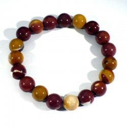 Bracelet en Mookaïte perles rondes 10mm