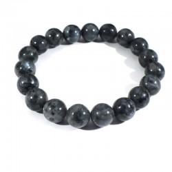 Bracelet en Larvikite perles rondes 10mm