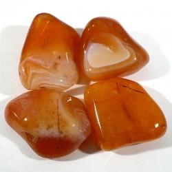 Cornaline rubanée du Botswana - pierres roulées