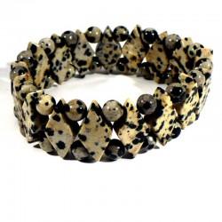 Bracelet losanges en Jaspe dalmatien