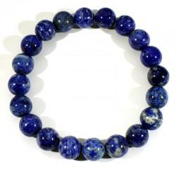 Bracelet en Lapis Lazuli perles rondes 10mm