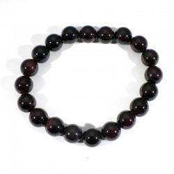 Bracelet en Grenat extra perles rondes 10mm
