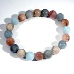 Bracelet en 3 Béryls perles rondes 10mm