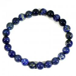 Bracelet en Lapis Lazuli perles rondes 8mm