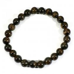 Bracelet en Bronzite perles rondes 8mm