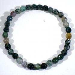 Bracelet en Agate multicolore perles facettées 6mm