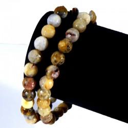 Bracelet en Agate crazy lace perles facettées 6mm