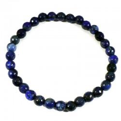 Bracelet en Lapis Lazuli perles facettées 6mm