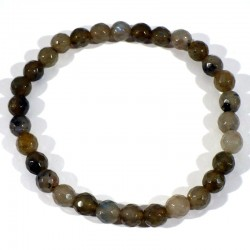 Bracelet en Labradorite perles facettées 6mm