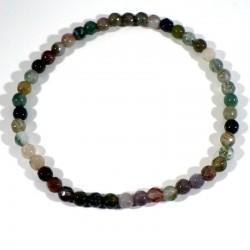 Bracelet en Agate multicolore perles facettées 4mm
