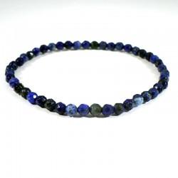 Bracelet en Lapis Lazuli perles facettées 4mm