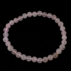 Bracelet en quartz rose perles rondes 6mm