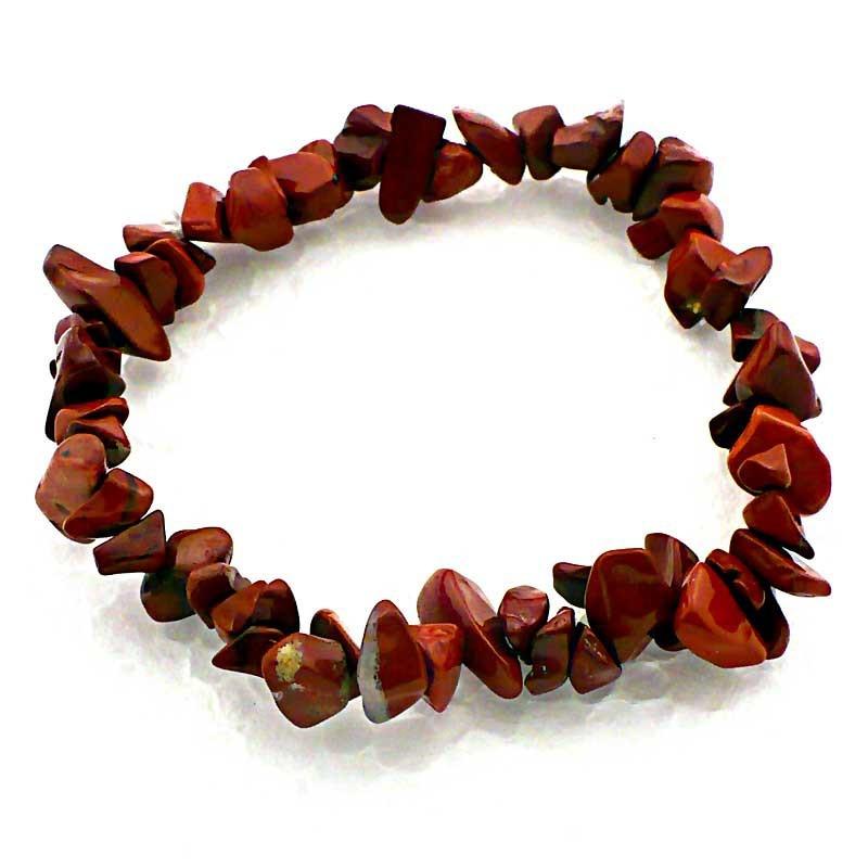 Bracelet Baroque en Jaspe Rouge Pierres Naturelles Lithothérapie
