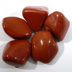 jaspe rouge du Brésil - pierres roulées