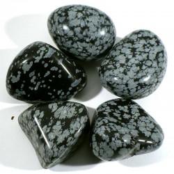 obsidienne neige des USA - pierres roulées